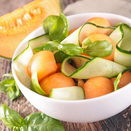 Insalata di melone e zucchine